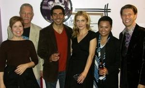 cast members Christine Estabrook, Mike Genovese, Sunil Malhotra, Rhea Seehorn, Alec Mapa, and director Daniel Henning
