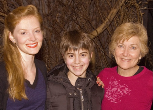 Wrenn Schmidt, Sami Gayle, and Jan Buttram at Sami Gayle Visits PHANTOM KILLER at Abingdon