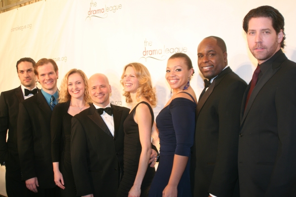 Will Swenson, Austin Eyer, Jennifer Evans, Michael Arnold, Jessica Kostival, Carmen Ruby Floyd, J. Bernard Calloway and James Barbour at Drama League Honors Angela Lansbury