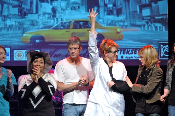 Curtain Call Alicia Witt, Raven-Symone, Mo Rocca, Cady Huffman and Marnie Schulenburg