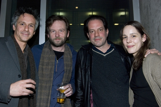 Quentin Mare, Dallas Roberts, Danny Mastrogiorgio, and Anita Anthonj at HAPPY NOW? Opens at Primary Stages