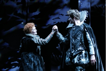 Judi Dench and Charles Edwards at Dench Stars in The Rose's A MIDSUMMER NIGHT'S DREAM