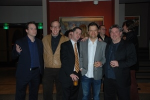 Producing Artistic Director Brian Kite, Evan Arnold, Director Jeff Maynard, Kevin Weisman and Lighting Designer Craig Pierce