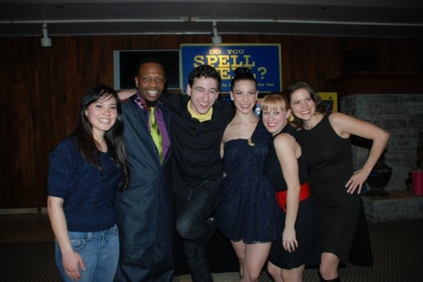 Cast members Lana McKissack, Melvin Abston, Tom Zohar, Cassie Silva, Shanon Mari Mills and Laura Griffith