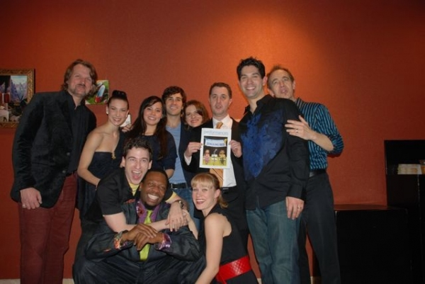 Cast with Musical Director David O and Director Jeff Maynard