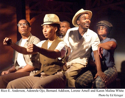 Rico E. Anderson, Adenrele Ojo, Bernard Addison, Lorenz Arnell and Karen Malina White at THE BALLAD OF EMMETT TILL; Now in Previews at The Fountain Theatre