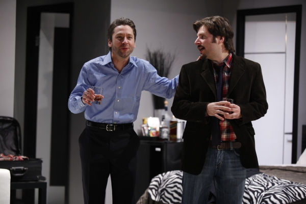 Michael Weston and James Roday at EXTINCTION At Cherry Lane Theater