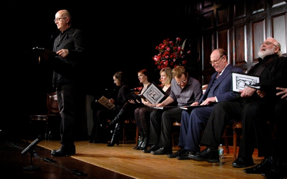 David Rooney, Liz Morton, Julia Murney, Cassie Beck, Chad Kimball, Paxton Whitehead,  Photo