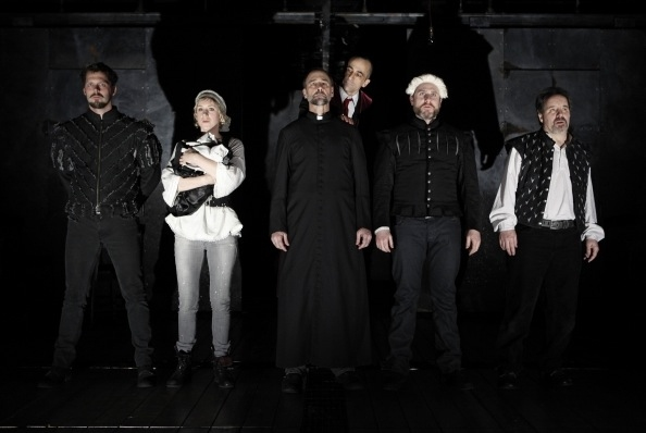 David Furr, Charlotte Parry, Michael Countryman, David Pittu, Remy Auberjonois and John Pankow at MTC Presents EQUIVOCATION by Bill Cain