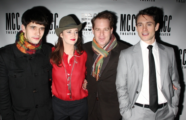 Ben Whishaw, Andrea Riseborough, Adam James & Hugh Dancy at THE PRIDE Opening Night After-Party