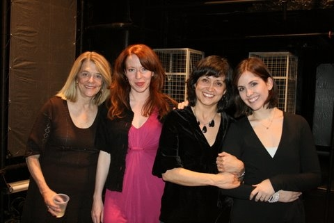 Frances Hill, Emily Ackerman, KJ Sanchez and Lauren Schmiedel at Urban Stages Opening Night of ReENTRY