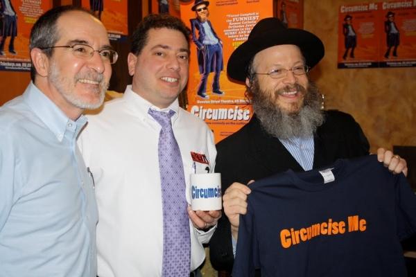Ben's Deli President Scott Singer, General Manager Hal Simon, and Yisrael Campbell