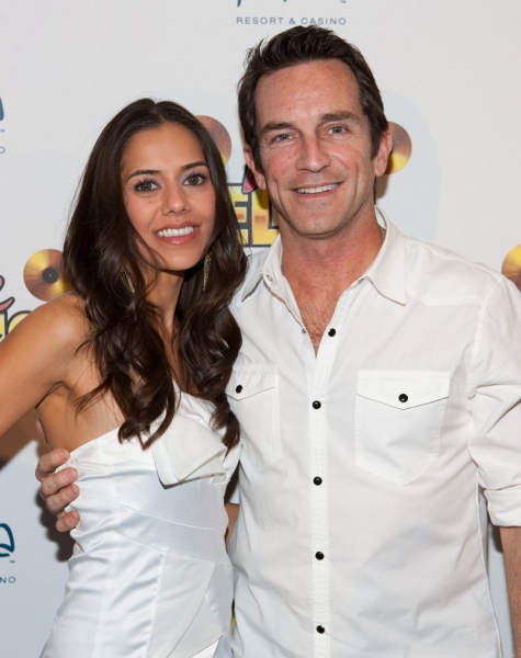Jeff Probst (R) and Sheetal Sheth