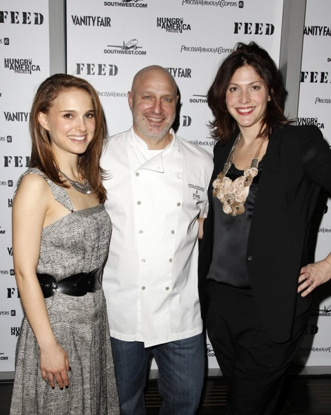 Natalie Portman, Tom Colicchio & Lori Silverbush  Photo