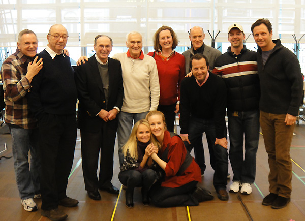 Producer Craig Zadan, librettist Neil Simon, lyricist Hal David, Dick Latessa,  producer Beth Williams, producer Neil Meron, Sean Hayes, Tony Goldwyn, director-choreographer Rob Ashford, Kristin Chenoweth, Katie Finneran