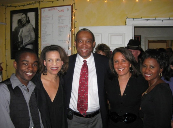 Lorenz Arnell, Ifa Bayeza, Michael Hill, Suzanne Malveaux and Karen Malina White