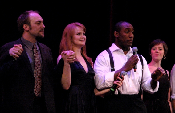 Alexander Gemignani, Kate Baldwin, Quentin Earl Darrington and Carole Bufford