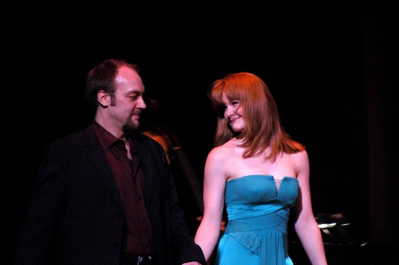 Alexander Gemignani (Director of tonights show) and Kate Baldwin