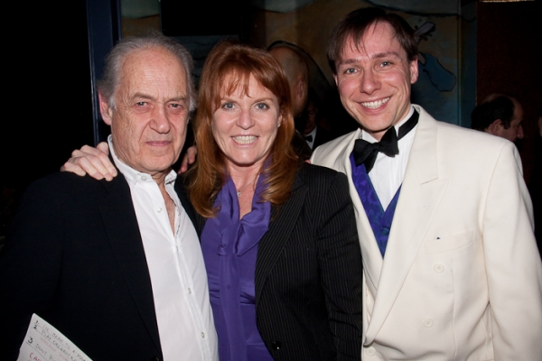 John Standing, Duchess of York Sarah Ferguson, and Stuart Barr