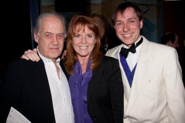 John Standing, Duchess of York Sarah Ferguson, and Stuart Barr