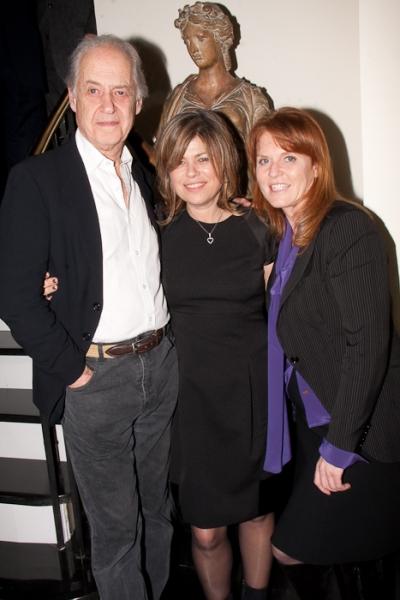John Standing, Sarah Standing, and Duchess of York Sarah Ferguson