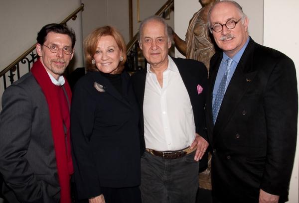 Scott Alan Evans, Cynthia Harris, John Standing, and Simon Jones