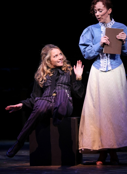 Becki Newton & Barbara Angeline ( 'Marian The Librarian' - THE MUSIC MAN ) at BROADWAY BACKWARDS 5 - The Woman