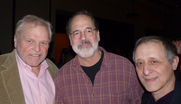 Steven Robman (center) and Hughie/Krapp's Last Tape actors Brian Dennehy and Joe Grifasi