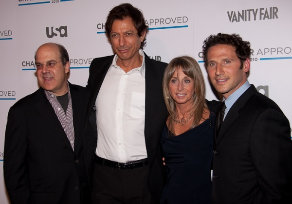 NBC Universal President Jeff Zucker, Jeff Goldblum, Bonnie Hammer, Mark Feuerstein