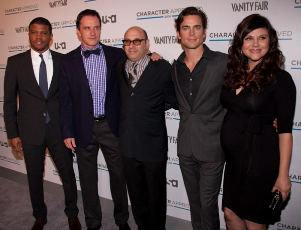 Sharif Atkins, Tim DeKay, Matt Bomer, Willie Garson, and Tiffani Thessen