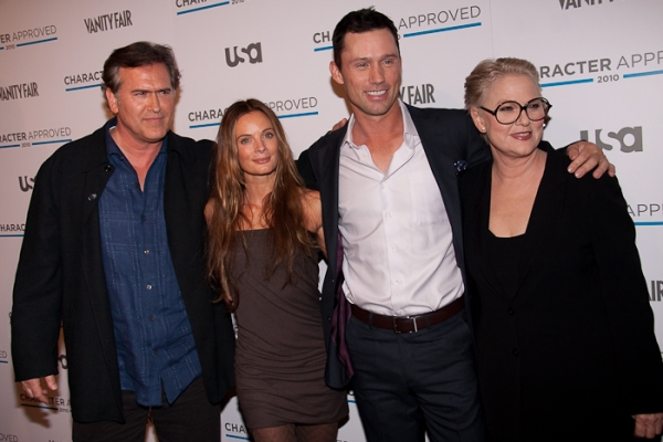 Bruce Campbell, Gabrielle Anwar, Jeffery Donovan and Sharon Gless
