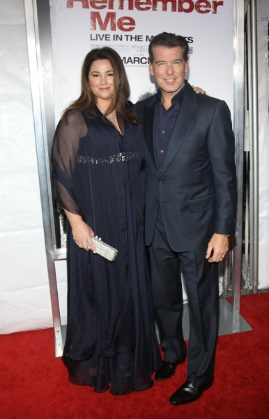 Pierce Brosnan and wife Keely Shaye-Smith  at 'Remember Me' Premieres at the Paris Theater in NYC