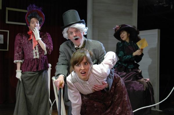 (front) Jessica Bennett; (back, L-R) Ian Randall, Lauren Vitz and Amanda Hartley