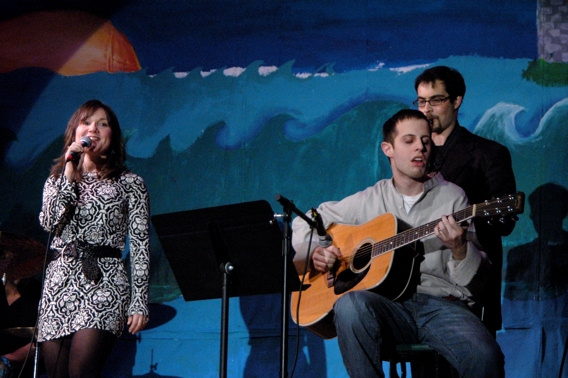 Jennifer Prescott, David Rosenthal and Jacam Manricks (School Music Program Instructors)