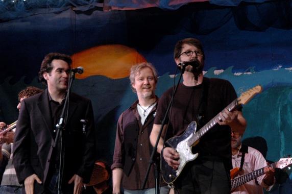 Brian D'Arcy James, Chris Barron and Matt Bennett