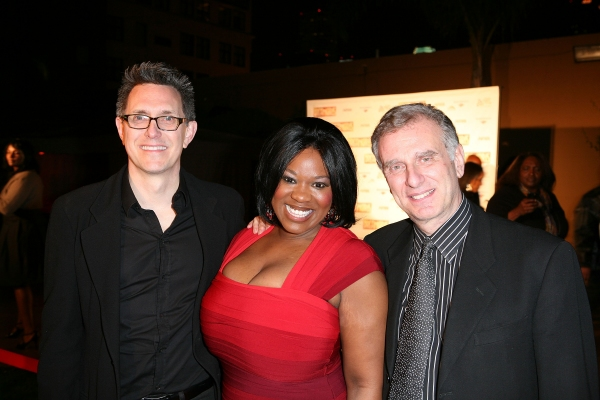 Director/Choreographer Robert Longbottom, cast member Moya Angela and Producer John Breglio