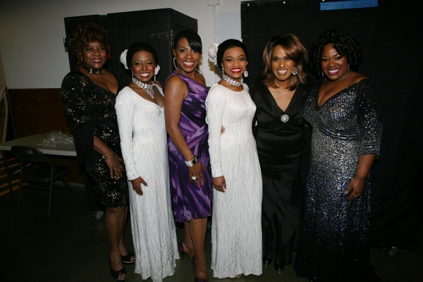 Original Dreamgirls and their current counterparts Loretta Devine, Adrienne Warren, Sheryl Lee Ralph, Syesha Mercado, Jennifer Holliday and Moya Angela at Devine, Ralph & Holliday Attend Opening of DREAMGIRLS at Ahmanson Theatre