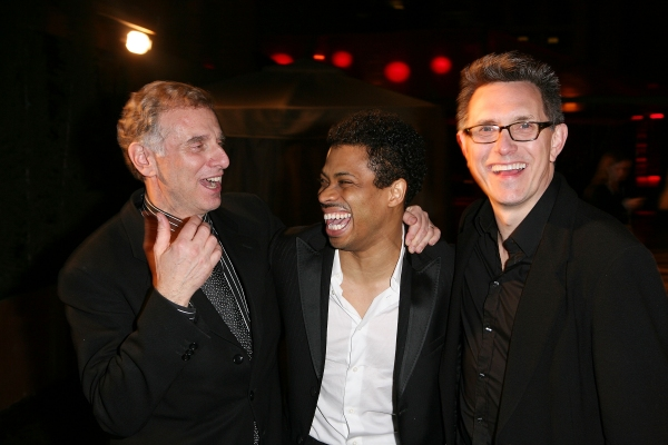 Producer John Breglio, cast member Chester Gregory and Director/Choreographer Robert Longbottom