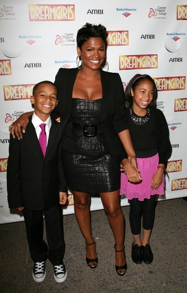 Nia Long (Center) with son Massai (L) and niece Cameron (R) at Devine, Ralph & Holliday Attend Opening of DREAMGIRLS at Ahmanson Theatre