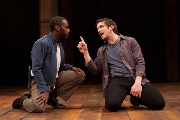 James William Ijames as Benvolio and Evan Jonigkeit as Romeo