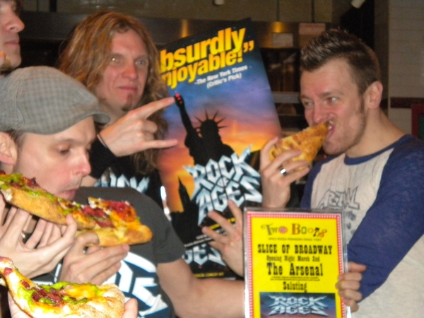 Photo Coverage: 'A Slice of Broadway' Honors ROCK OF AGES with 'The Arsenal' Pizza