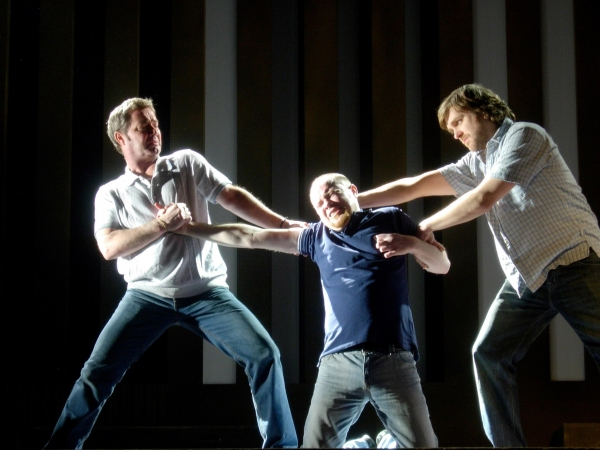 Marty Maguire (Oscar), Chris Corrigan (Eamon) and Andy Moore (Hank)