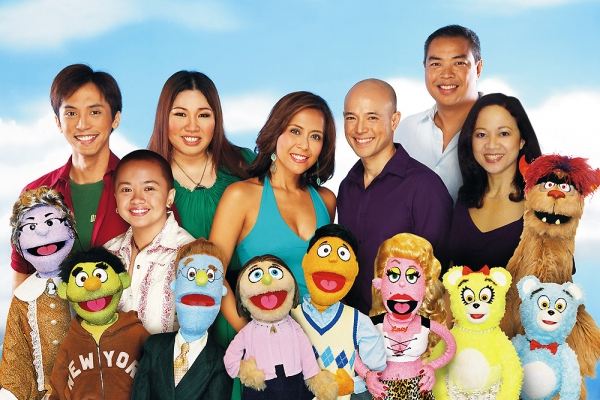Felix Rivera, Aiza Seguerra, Frenchie Dy, Rachel Alejandro, Joel Trinidad, Calvin Millado and Thea Tadiar at AVENUE Q Closes in Manila, 3/27