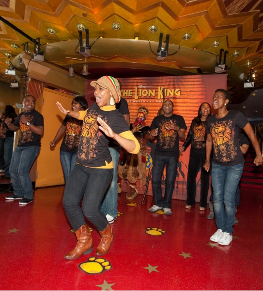 Photo Coverage: Lion King Cast Members Celebrate Unveiling at Madame Tussauds Las Vegas