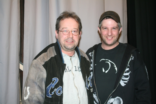 Victor Lukas (Production Stage Manager) and Ron Rogell (Assistant Stage Manager)