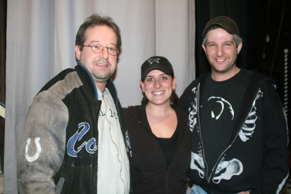 Victor Lukas, Amanda Stuart (Properties Mistress) and Ron Rogell