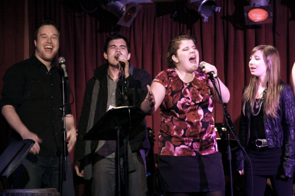 BDF alum Ryann Redmond singing 'House of Love' with Atlanta's Josh Rhett Noble & Wes Jetton and Minneapolis' Samantha Wynn.