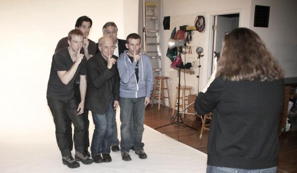 Austin Peck, Scott Jaeck, Roderick Hill, Dan Butler & Brian Leahy with Carol Rosegg