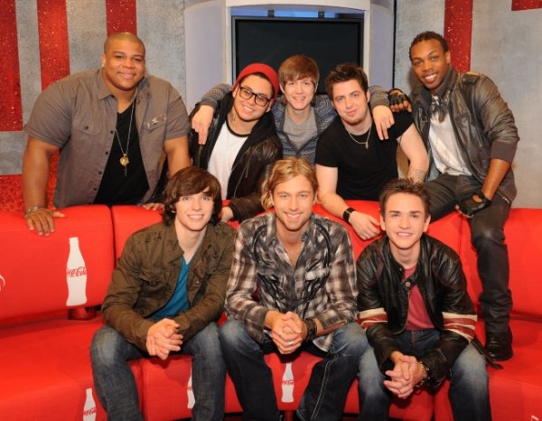 The top 16: Guys: Bottom Row L-R: Tim Urban, Casey James and Aaron Kelly. Top Row L-R: Michael Lynche, Andrew Garcia, Alex Lambert, Lee Dewyze and Todrick Hall