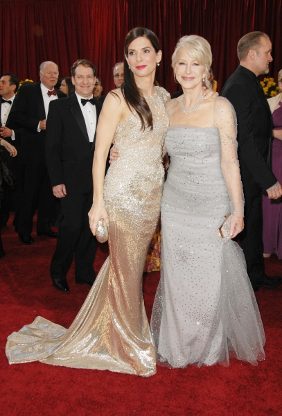 Sandra Bullock and Helen Mirren  at Oscar Arrivals - Part 1